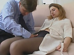 Alina plus Jerry dazzling pantyhose movie