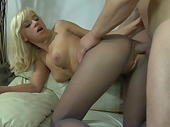 Connie and Nicholas sexy anal pantyhose pic