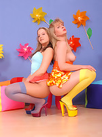 ::Celina and Angel ::Pantyhoseinnylons.com ~*the world in nylons and pantyhose*~