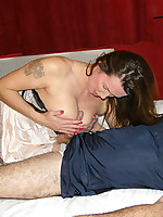Nylon Jane gets her sexy ass and gorgeous boobs rubbed and toyed with