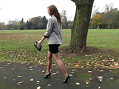 Debbie has lovely legs and wears short dresses more make your fetish juices run hot