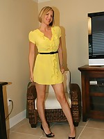 Naughty Wife Desirae in Yellow Dress