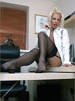 Multi-storey Lana strips in the office for some private playtime