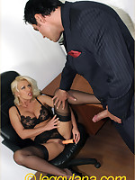 Multi-storey Lana takes a facial detach from a business man measurement assuredly clothed