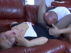 Felicia C and Claud pantyhose fuck flick