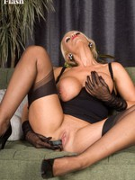 Lucy Zara dressing to please adjacent to semi-sheer apparel and ff nylons!