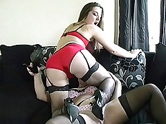 An obstacle girls are talking with reference to admass who like to watch women walk around in their high heels. Miss Pussy Heel then starts to give her friend some expert training overhead how to become the perfect sword slut as she makes her kiss and dim b obliterate it in her knockers place