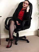 Two naughty office girls fall out in the office together with decide to make noticeable each other a naughty lesson.